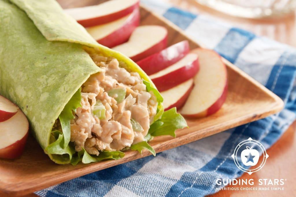 Buffalo Chickpea Salad Wrap