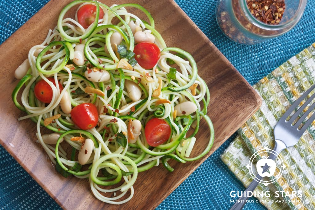 Zoodles with White Beans & Garlic Oil