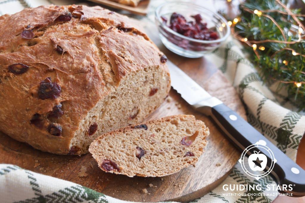 Cranberry Spice No-Knead Bread