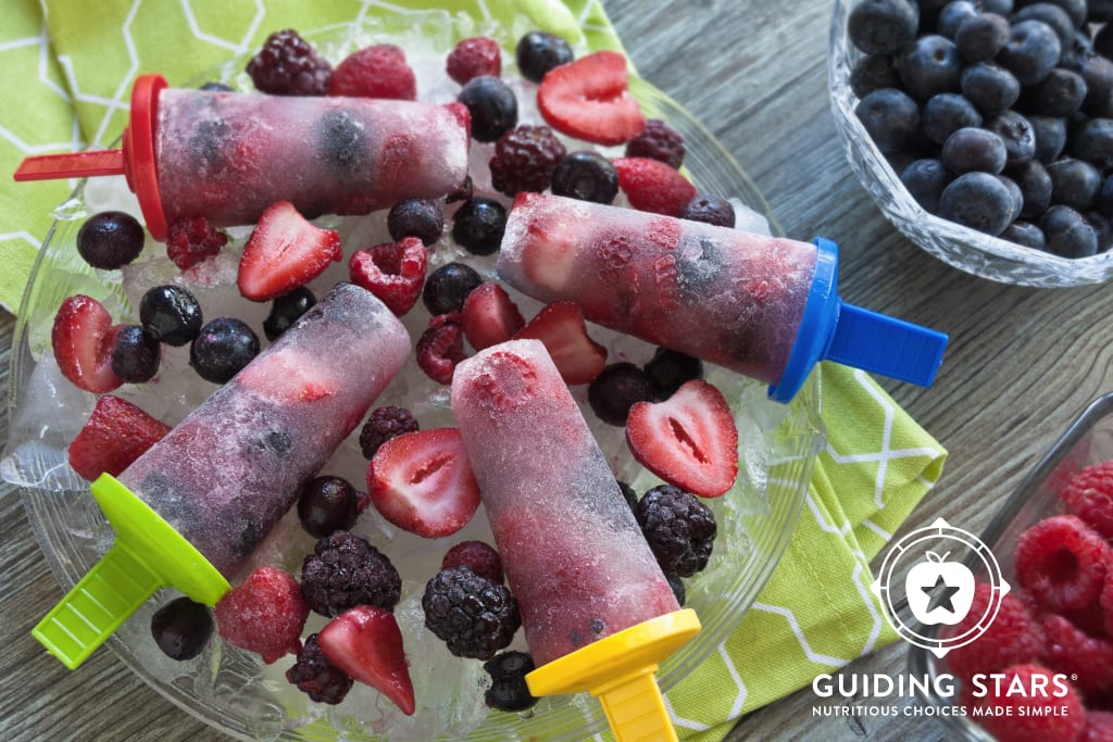 Coconut Water Berry Popsicles