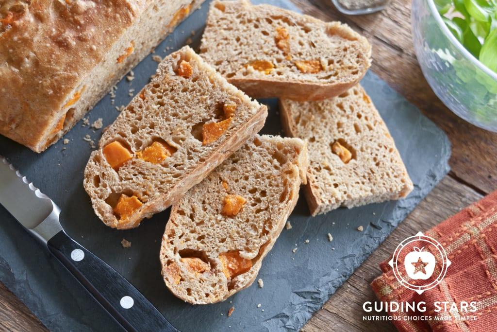 Spiced Sweet Potato No-Knead Bread