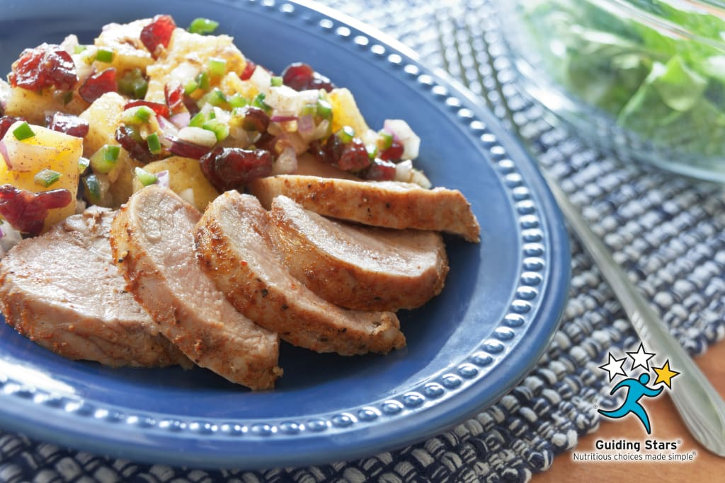 Pork Tenderloin with Cranberry Salsa