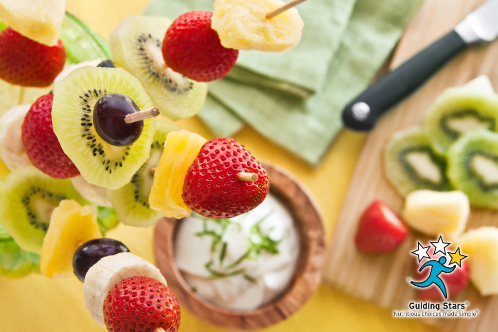Fresh Fruit Kebabs with Lemon Lime Dip