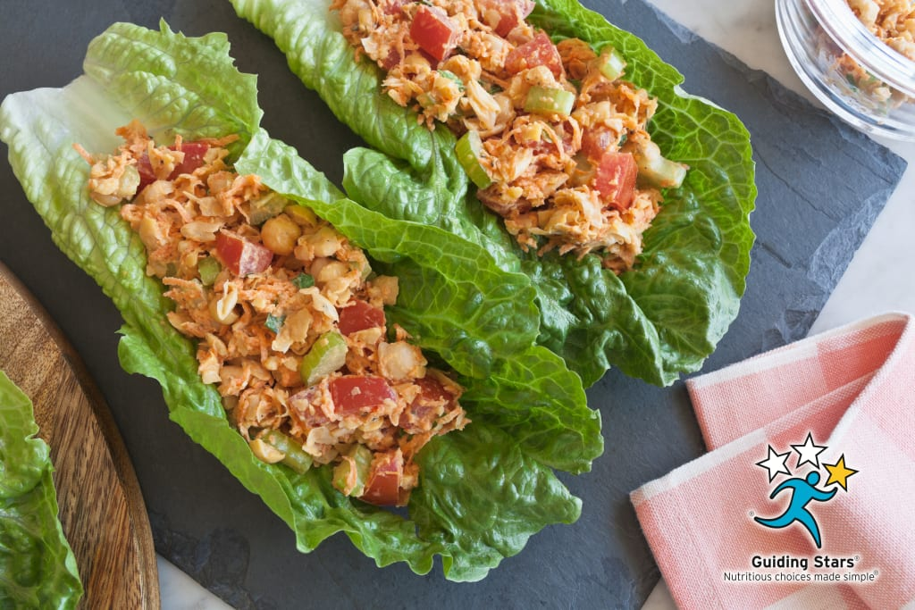 Garbanzo Salad Romaine Wraps