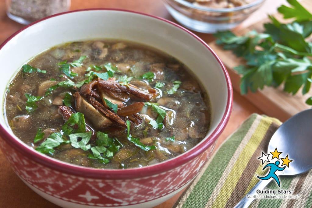 Shiitake & Button Mushroom Soup