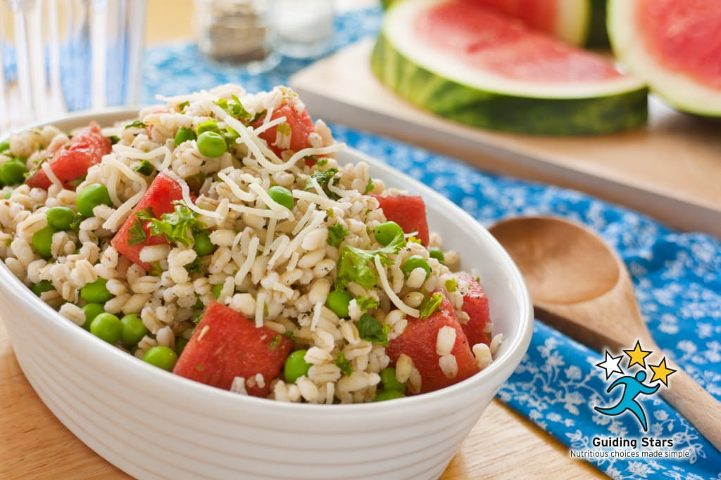 Summer Pea, Watermelon & Farro Salad
