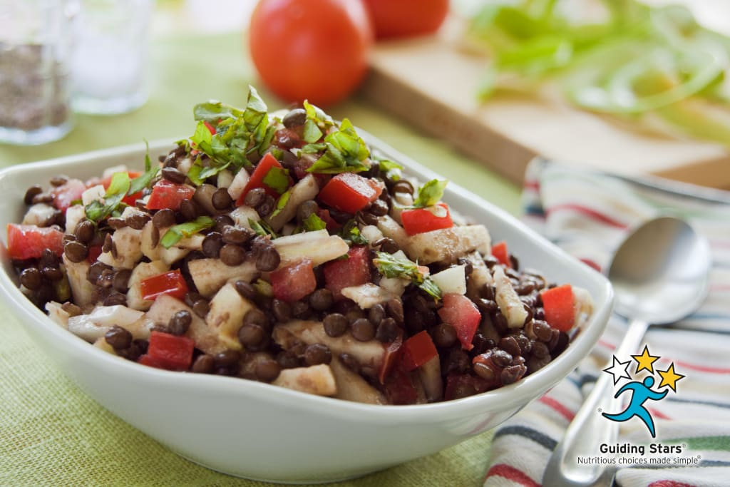 Lentil Salad with Apples