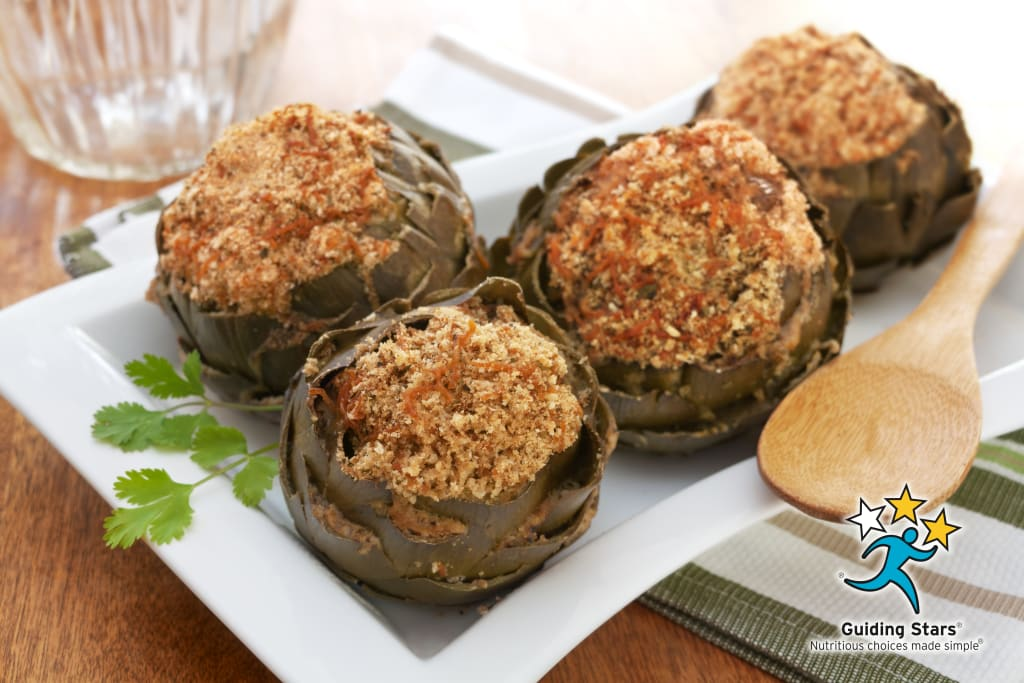 Slow Cooker Stuffed Artichokes
