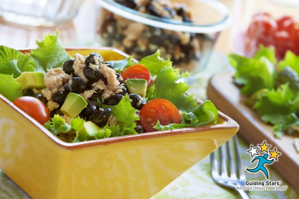 Salmon and Black Bean Salad
