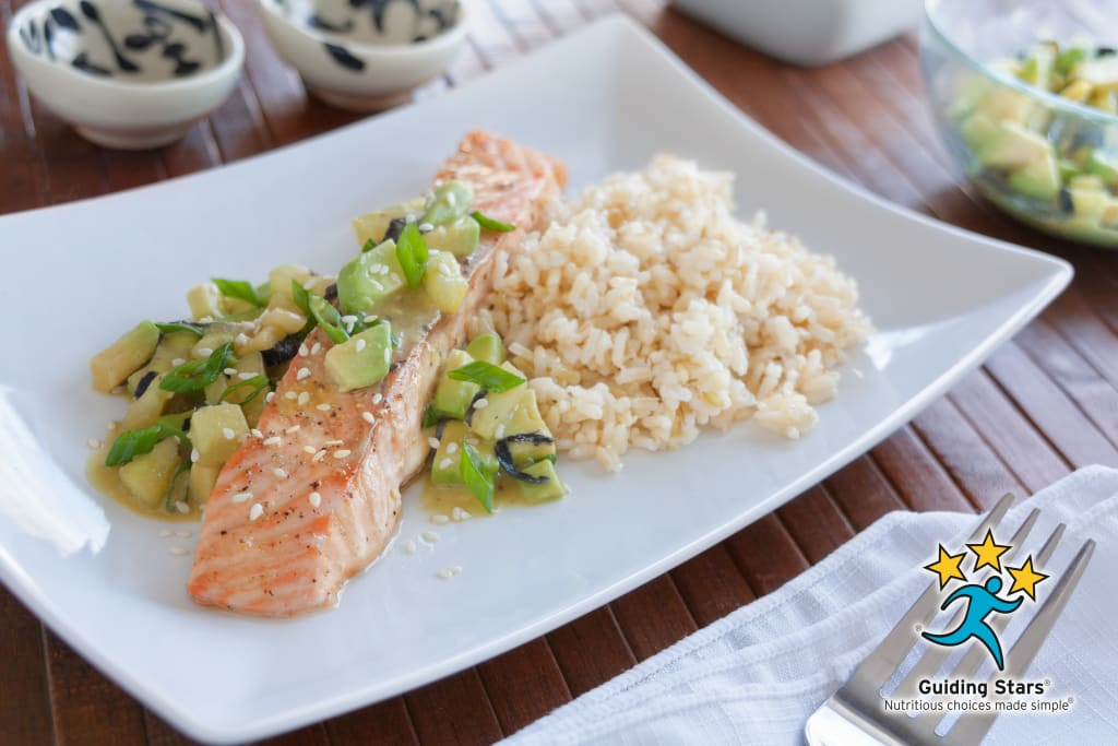 Roasted Salmon with Veggie Sushi Salsa