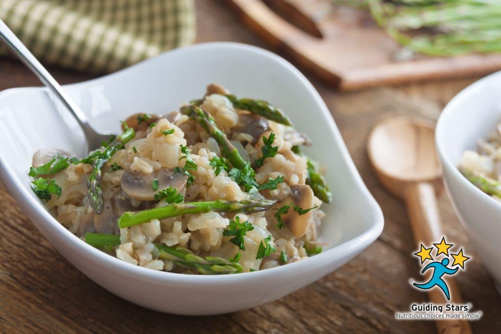 Brown Rice Pilaf with Asparagus & Mushrooms