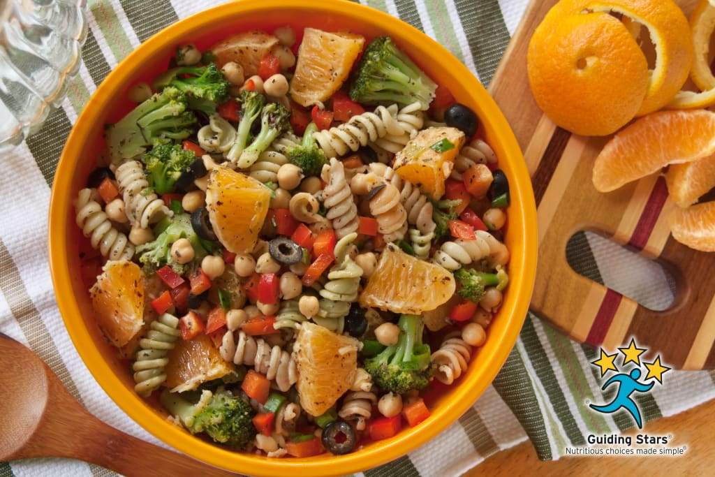 Chickpea Pasta Salad with Oranges