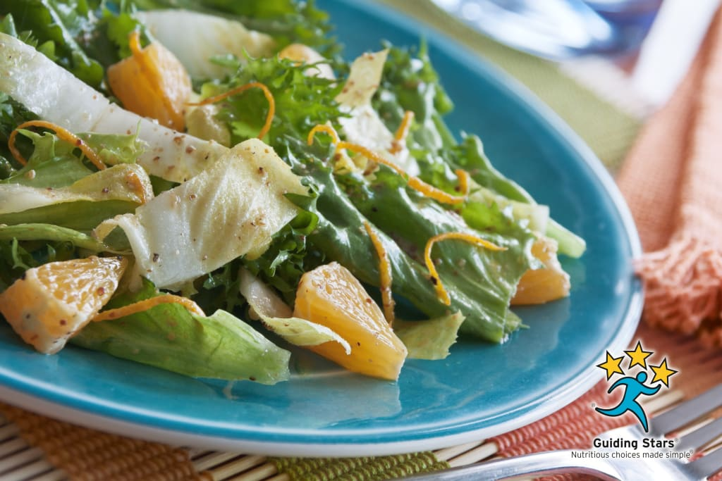 Endive & Escarole Salad with Mustard-Orange Vinaigrette