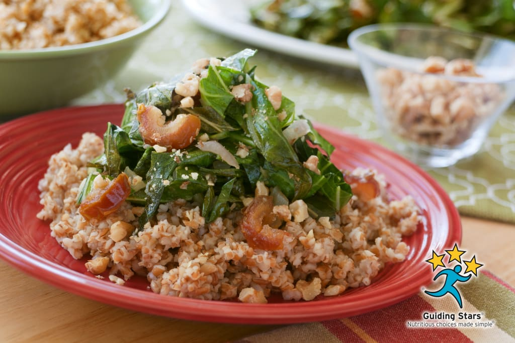 Mustard Greens and Bulgur