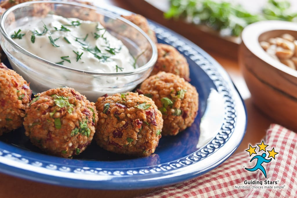 Quinoa Pizza Balls with Ranch Sauce