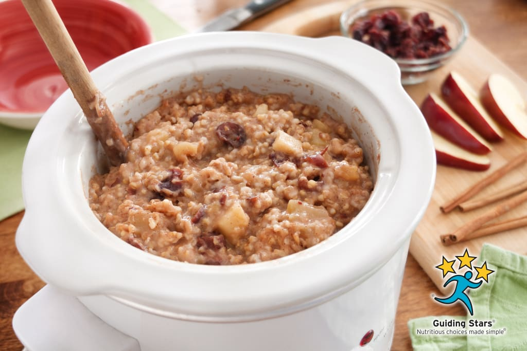 Slow Cooker Apple-Spice Oatmeal