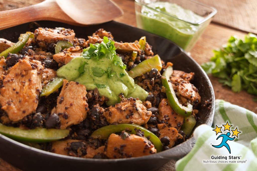 Quinoa and Chicken Enchilada Skillet