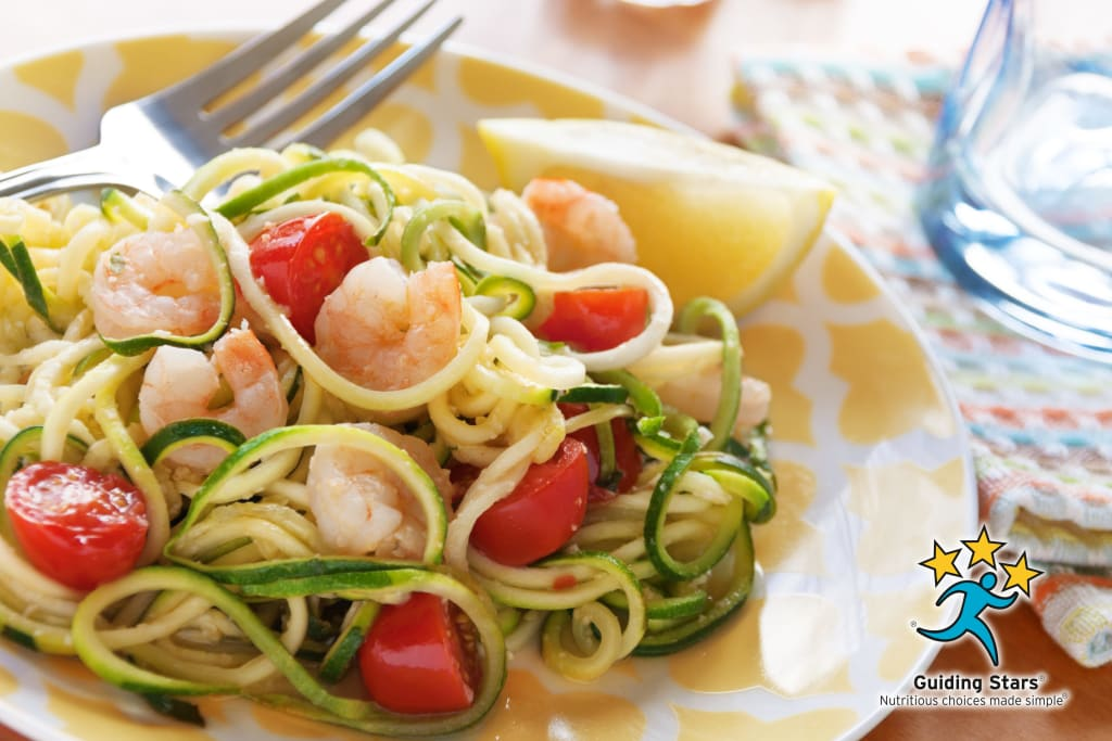 Lemon-Garlic Zoodles with Shrimp