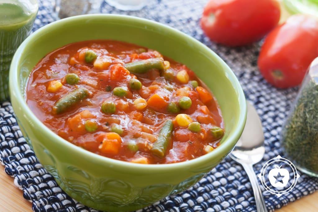 7 Minute Vegetable Soup