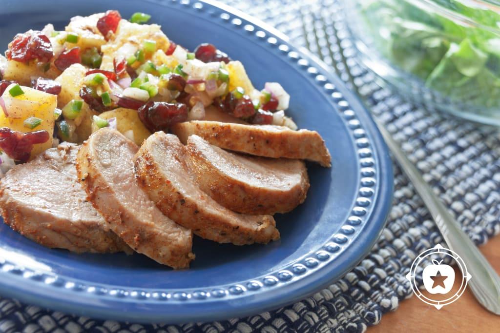 Pork Tenderloin with Cranberry Salsa