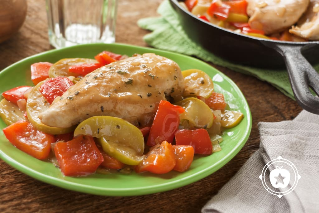 Skillet Chicken with Apples and Sage