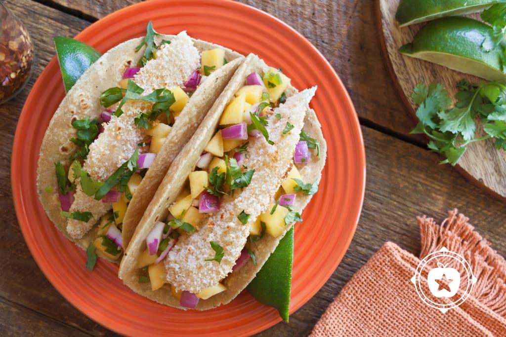 Tilapia Tacos With Peach Relish
