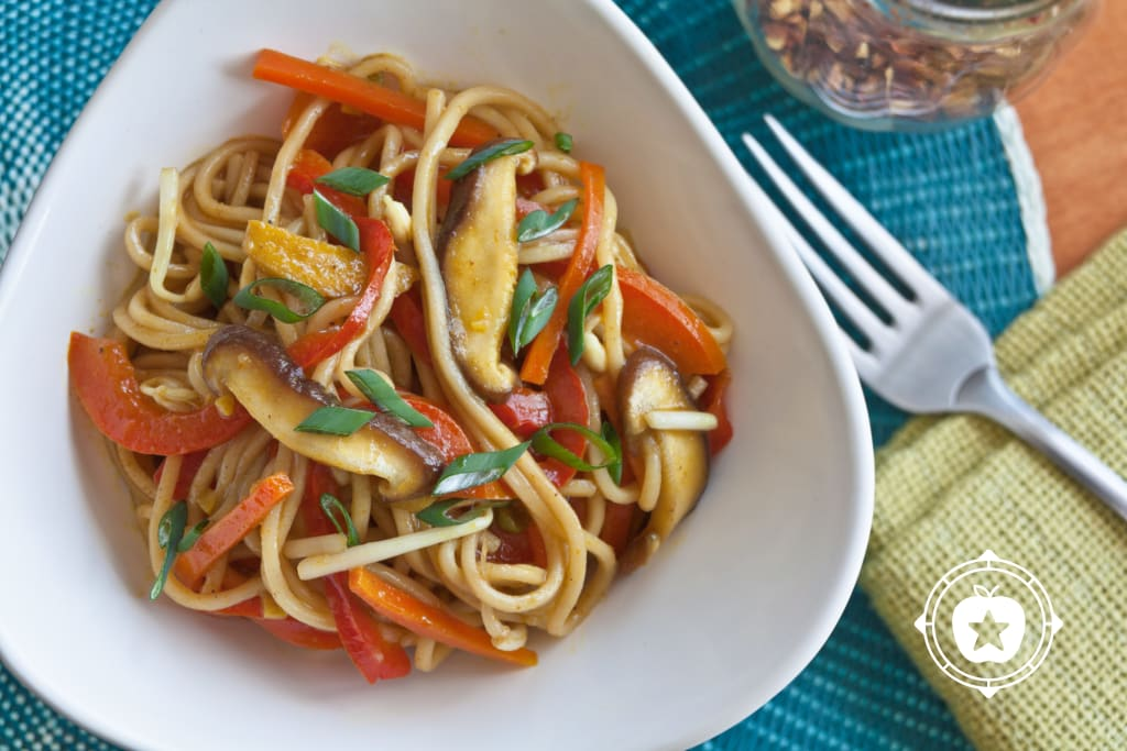 Curried Vegetable Lo Mein