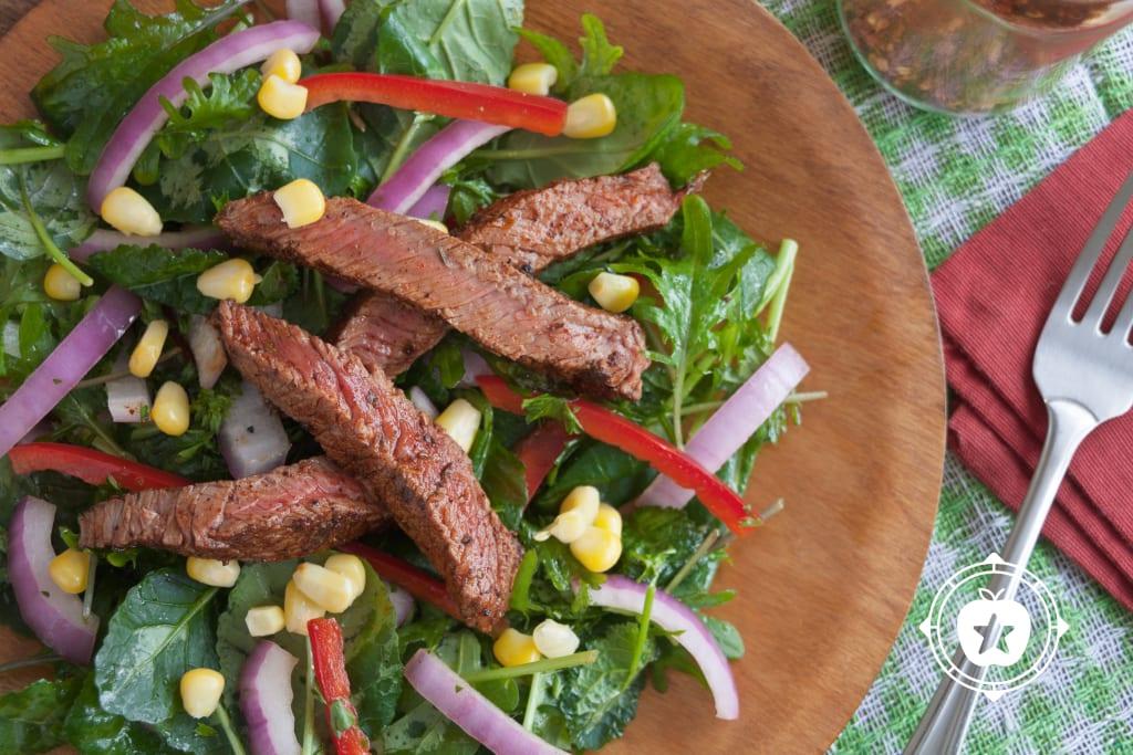 Grilled Sirloin Tip Steak Salad