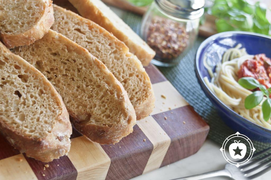 Cheesy Onion Garlic No-Knead Bread