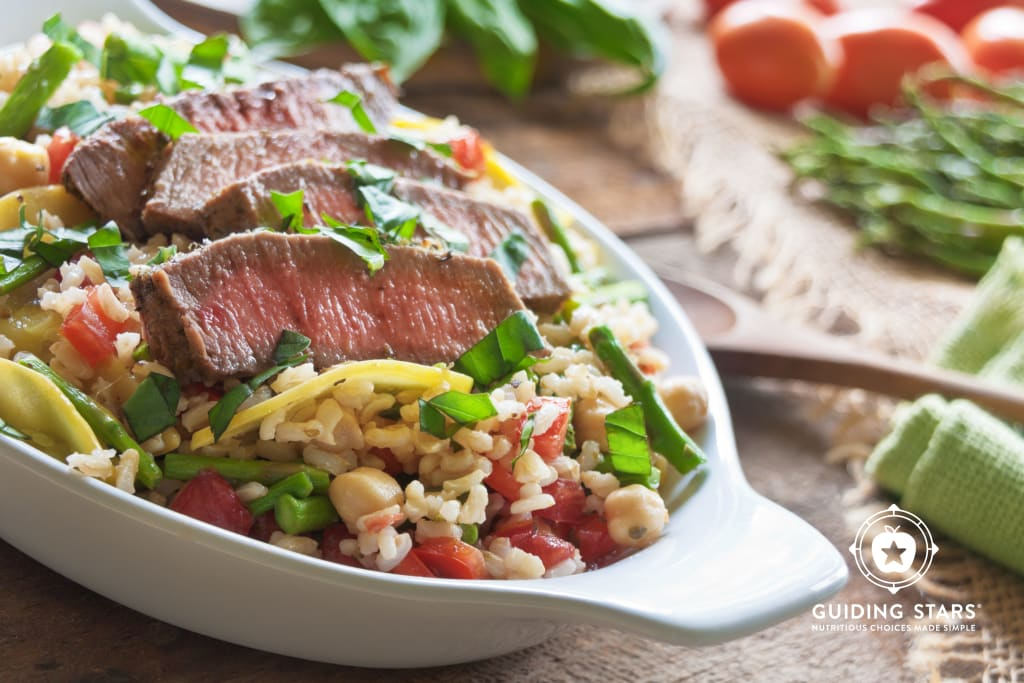Farmer's Market Vegetable Beef and Brown Rice Bowl