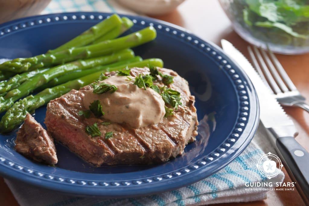 Garlic Yogurt Marinated Steaks