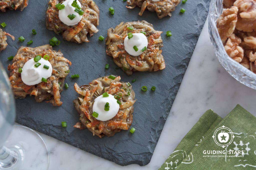 Mini Potato Pancake Canapes