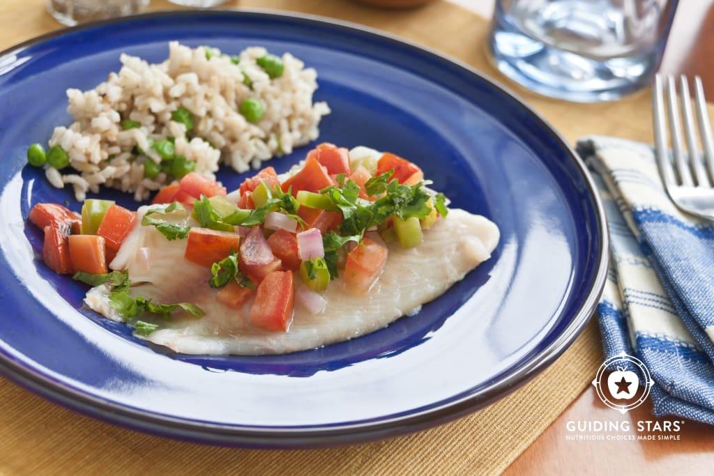 Salsa Broiled Tilapia