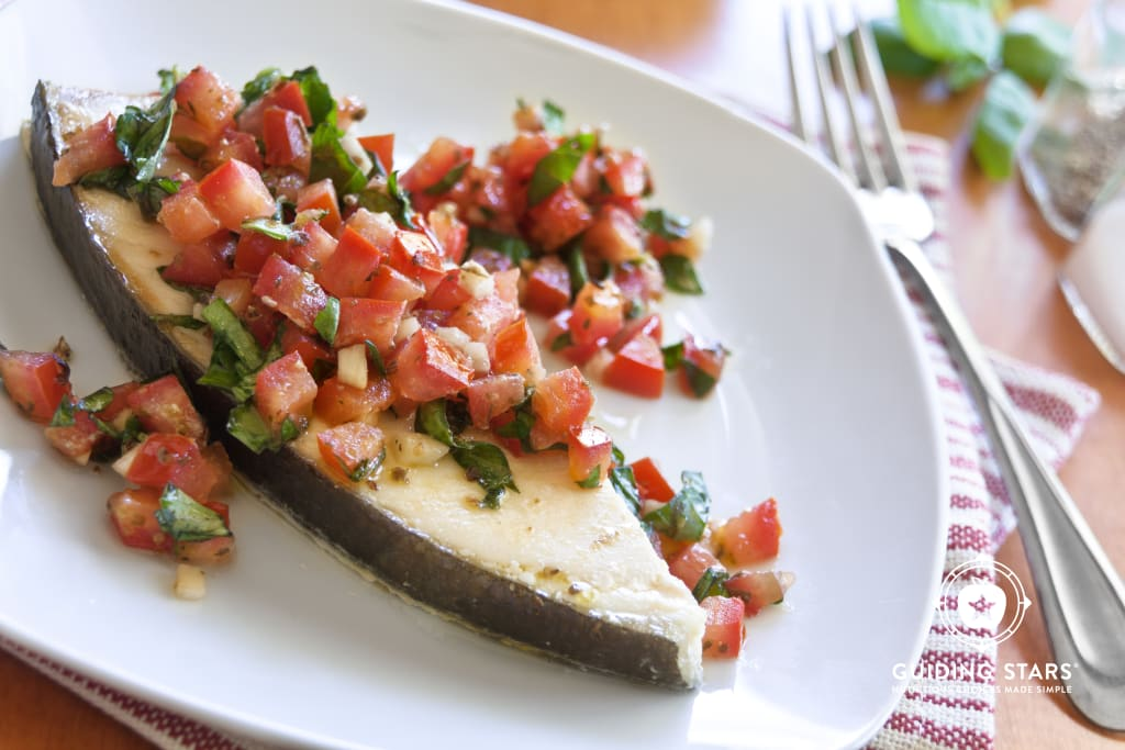 Halibut with Tomato Basil Salsa