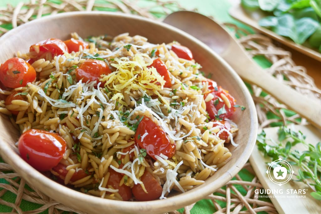 Orzo with Cherry Tomatoes and Lemon
