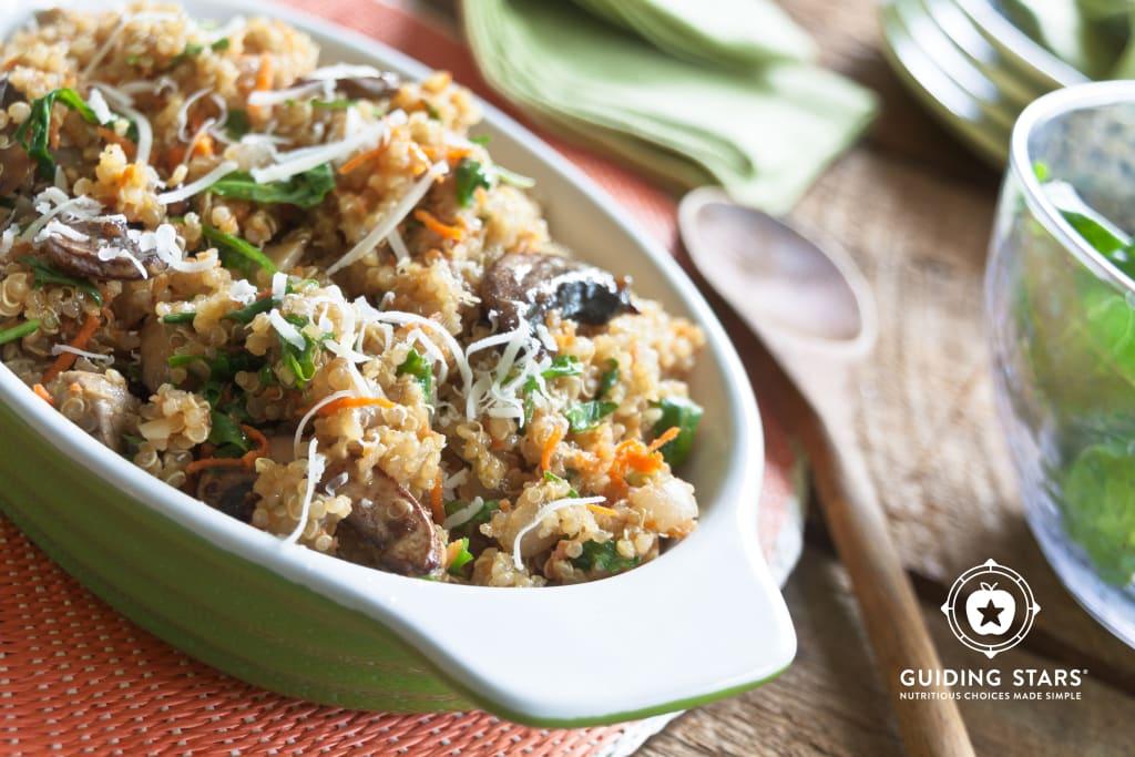 Quinoa Risotto with Arugula and Parmesan