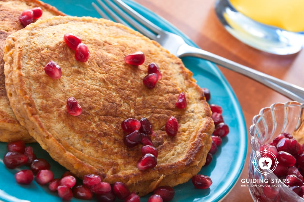 Sweet Potato Whole Grain Pancakes