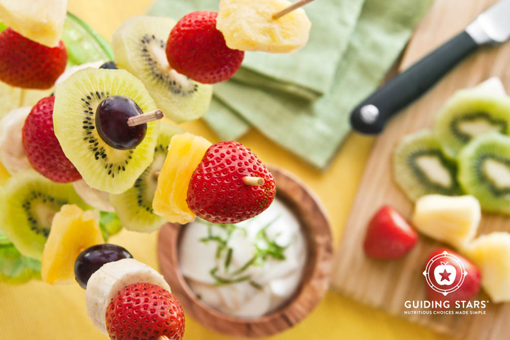 Fresh Fruit Kebabs with Lemon Lime Dip