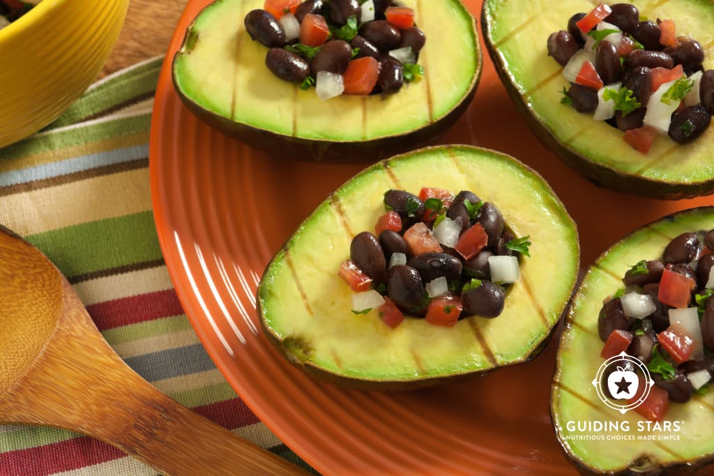 Grilled Avocados with Black Bean Salsa