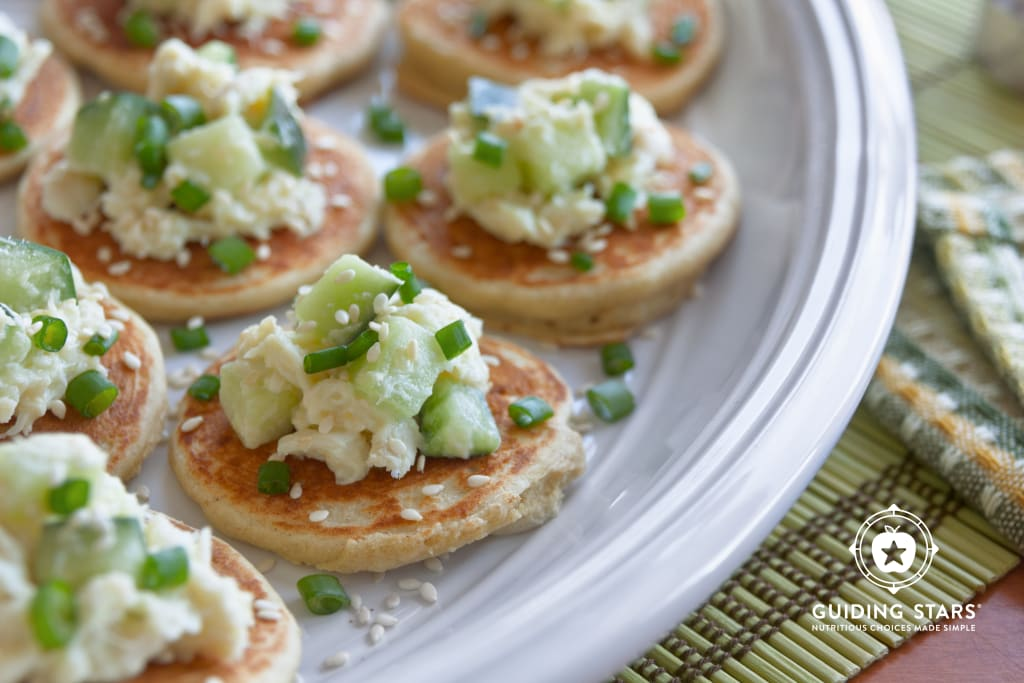 Savory Pancakes for Canapes.