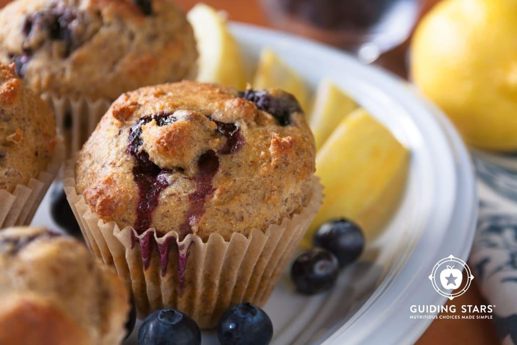 Lemon Blueberry Flax Muffins