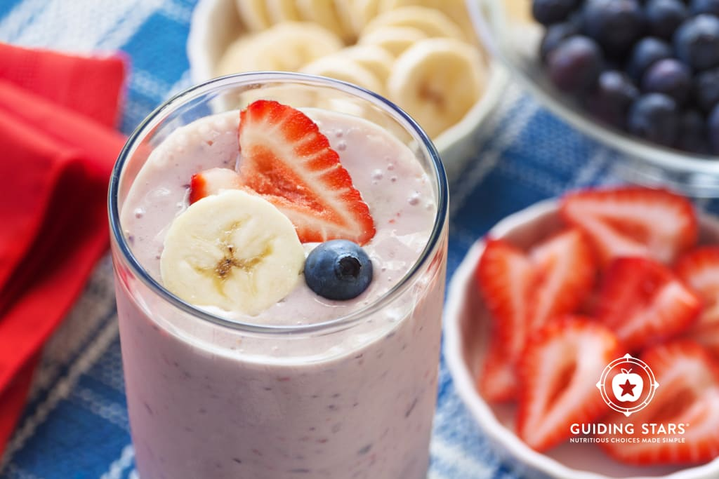 Red, White & Blue Fruit Smoothie