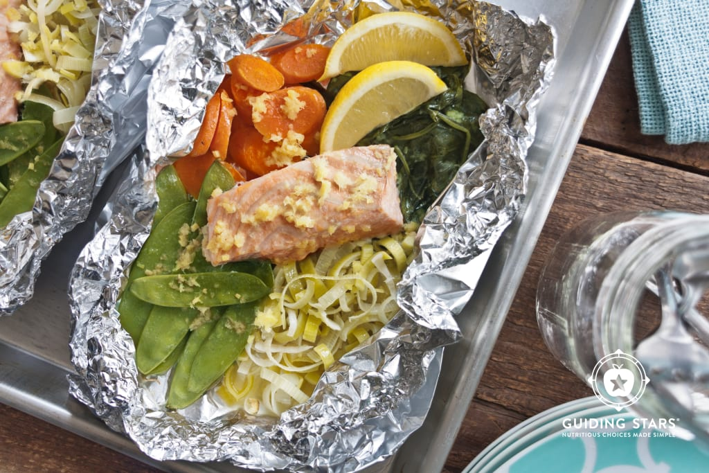 Oven-Baked Salmon with Snow Peas
