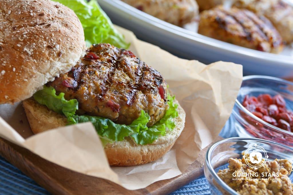 Cranberry & Herb Turkey Burgers