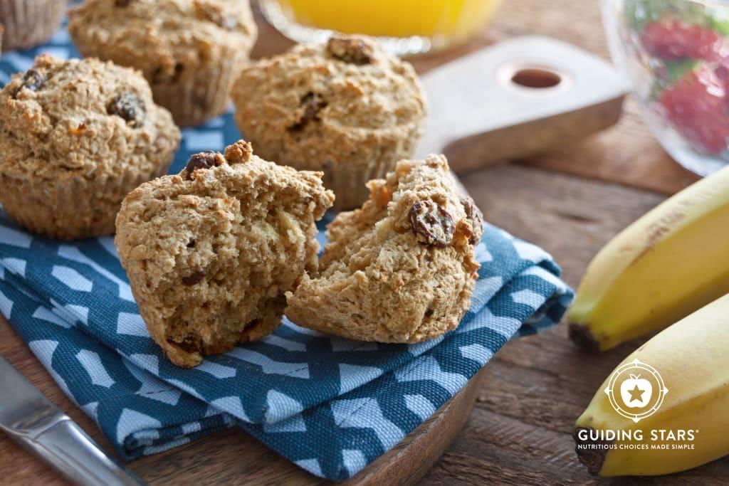 Easy Banana Raisin Muffins