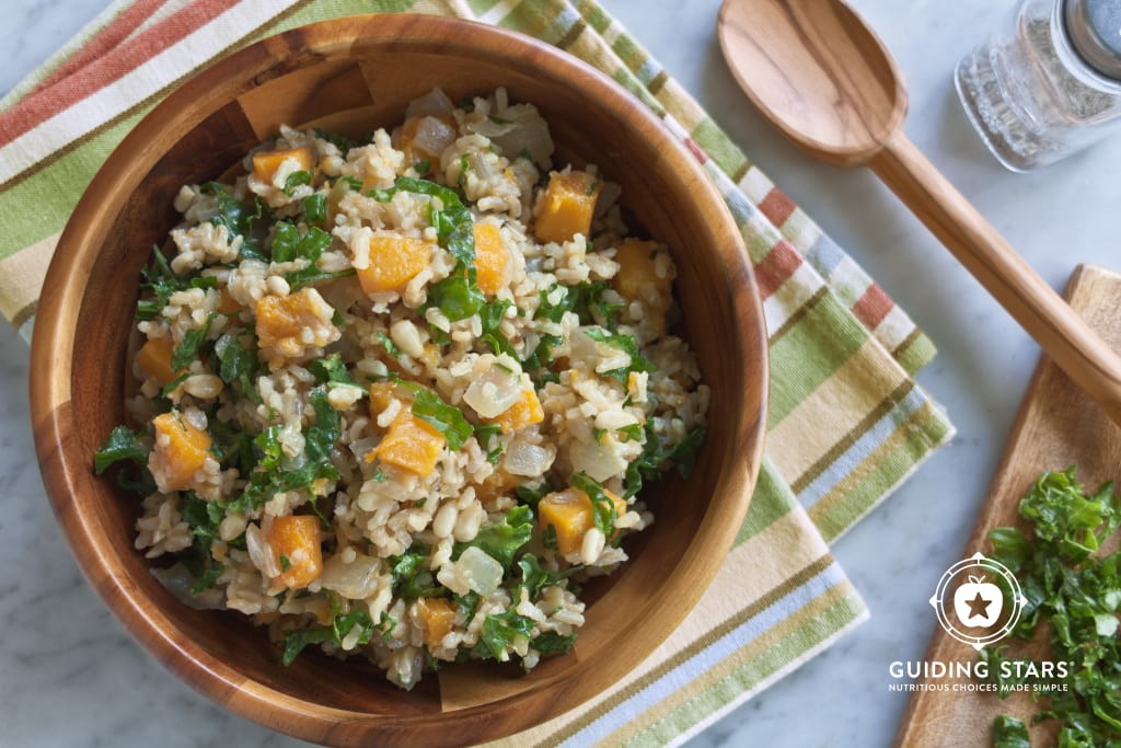 Winter Squash & Kale Risotto with Pine Nuts