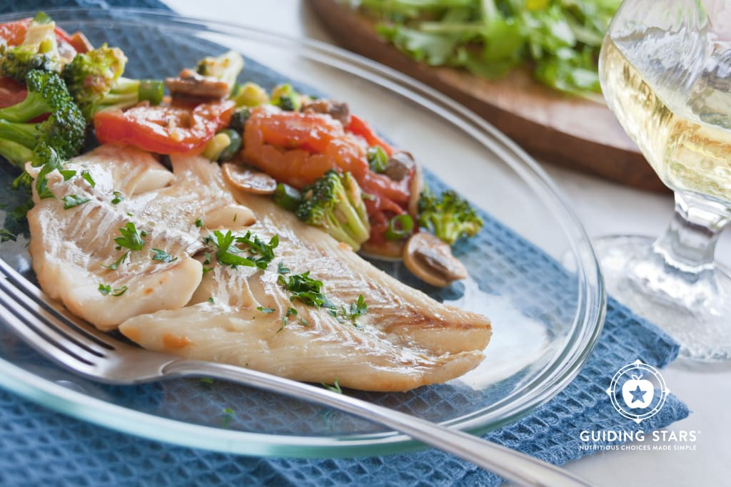 Fish Fillets in Wine Sauce