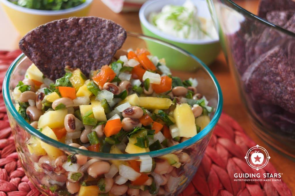 Black-Eyed Pea Salsa with Mango