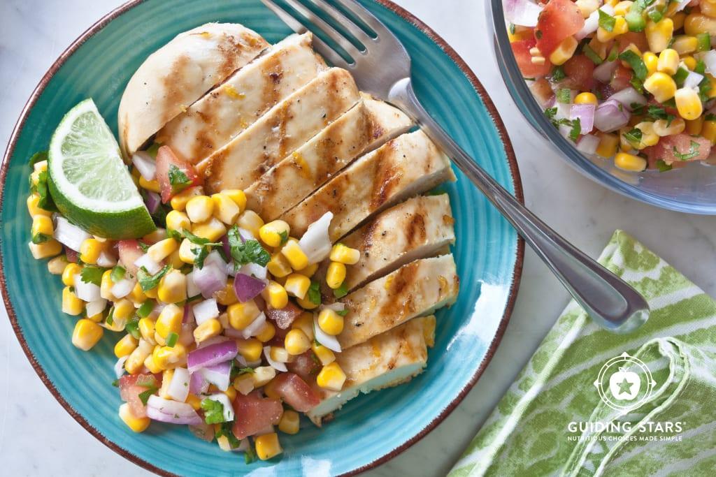Grilled Chicken With Corn Salsa