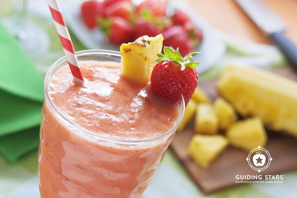 Peach, Strawberry & Pineapple Smoothie